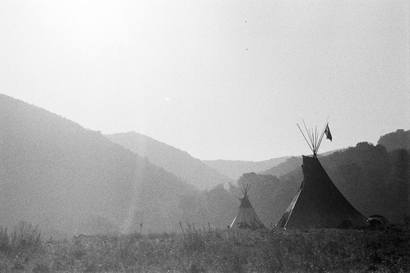 Morning light on the tipis, Romania.