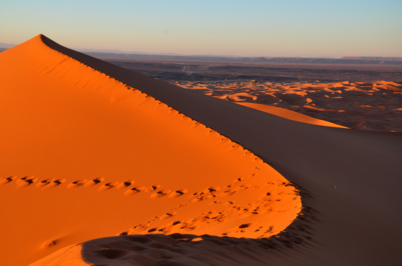 Sahel colours in the spiralling Dunes at sunset.
