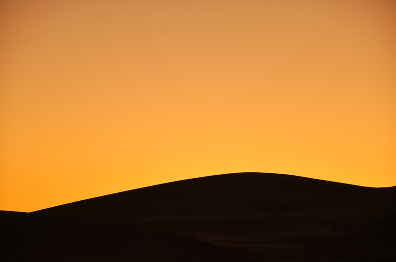 Dunes at sunset.