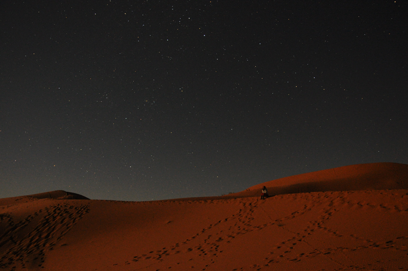 Star-filled meditations at night in the Sahara.