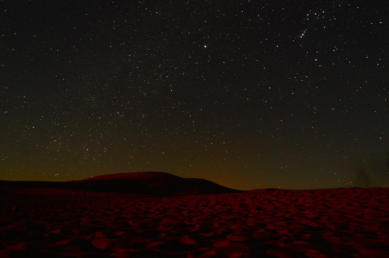 The Dunes with the stars revealing themselves just before moonrise.