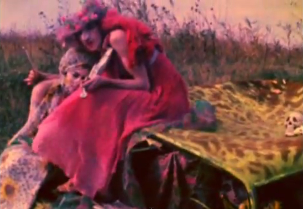 A still from Normal Love (1963) A film by JACK SMITH. Colour, Sound, 16mm, 103 mins.