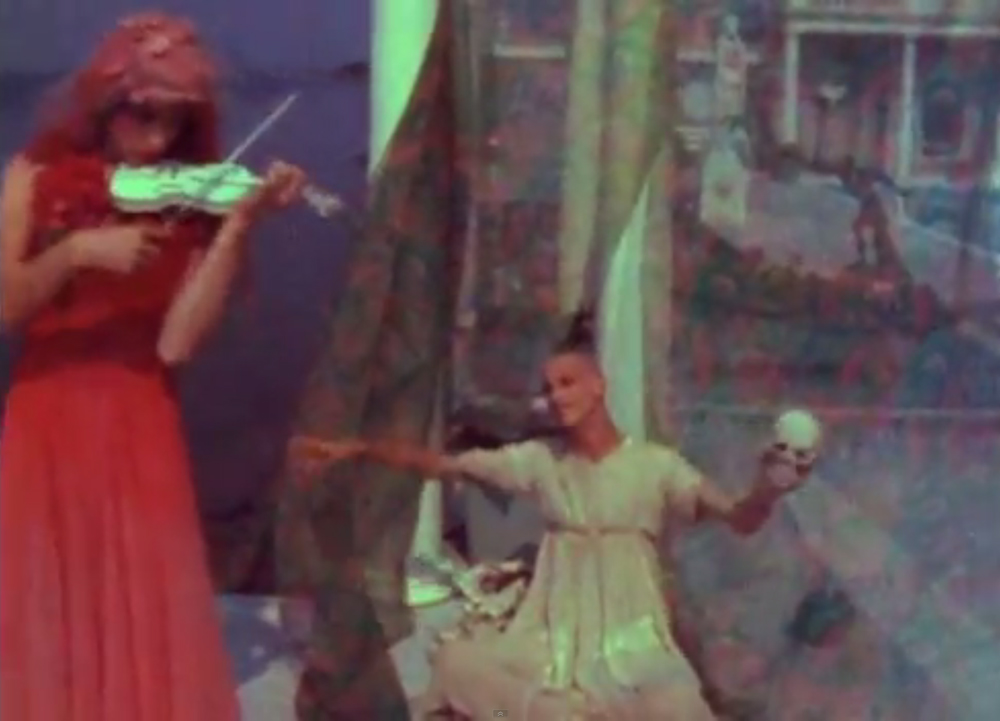 The sound of freedom. A still from Normal Love (1963) A film by JACK SMITH. Colour, Sound, 16mm, 103 mins.