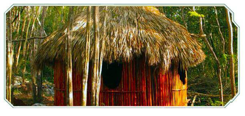 Finished palapa - Mayan style cabana