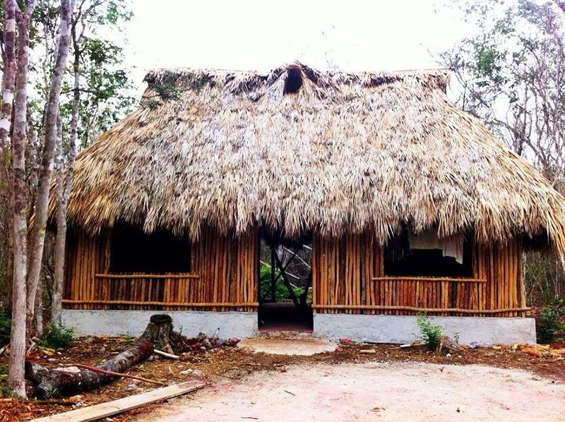 This is the biggest palapa main house / guest center, currently hosting up to 10 people in the top loft..