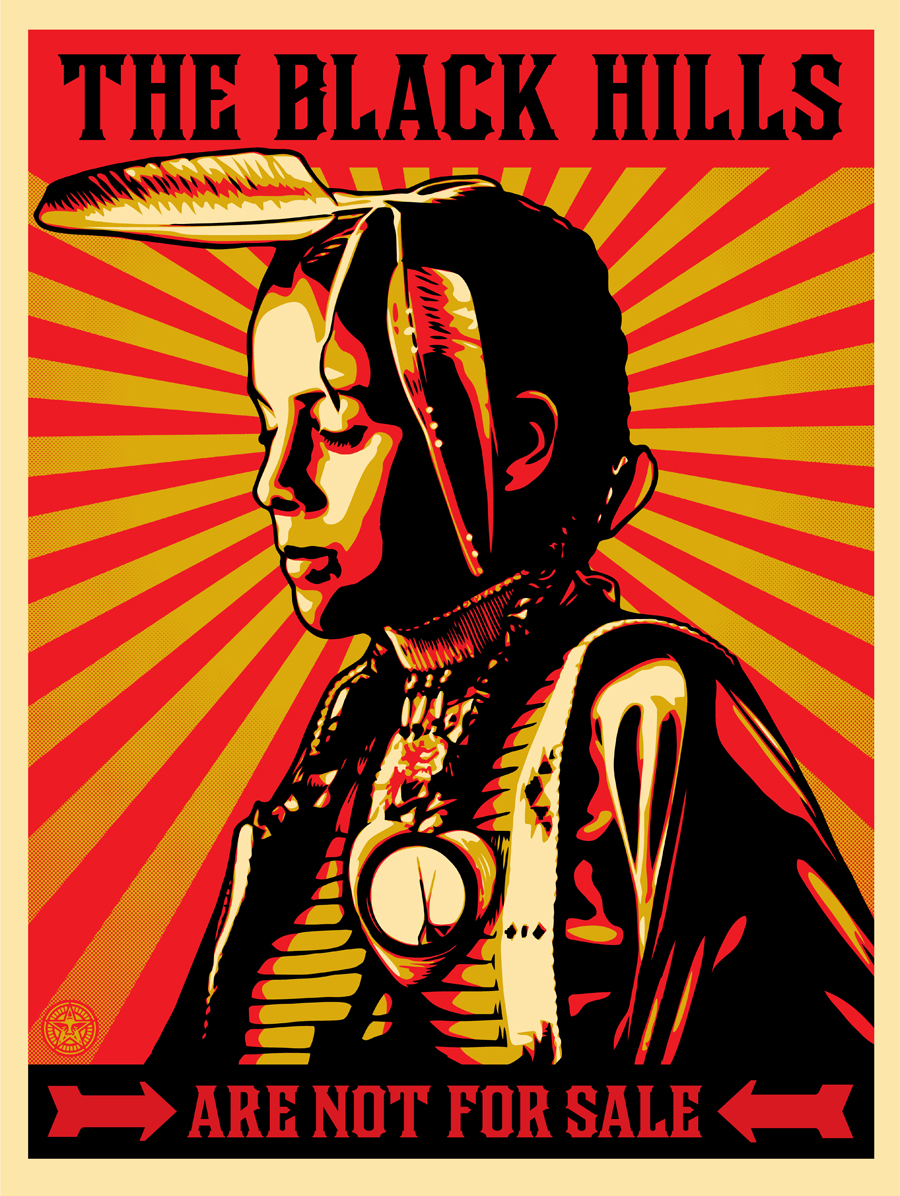 The Third Eye Magazine_Honor The Treaties-Native American_Aaron Huey Shepard Fairey_Black Hills Not For Sale