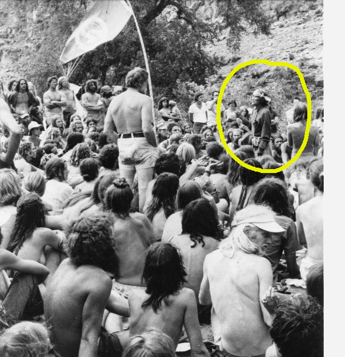 Hopi Grandfather speaking at the US Rainbow Gathering in 1977.