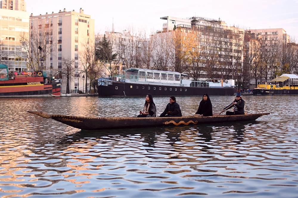 "AMAZONIAN TRIBE'S ""CANOE OF LIFE"" Brings A Message On Climate Change to Paris"