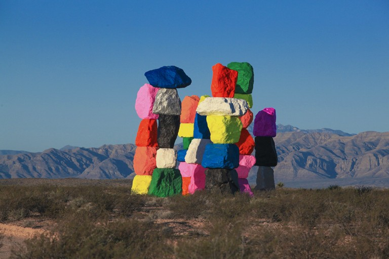 Seven Magic Mountains in the American West